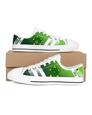 TURTLE LOW TOP SHOES Women's Low Top White Shoes inside-left-outside-left