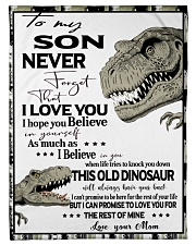 "Dinosaurs Poster 1 Small Fleece Blanket - 30"" x 40"" thumbnail"