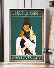 just a girl who loves cats 11x17 Poster lifestyle-poster-4