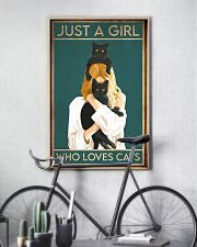 just a girl who loves cats 11x17 Poster lifestyle-poster-7