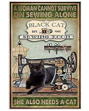 Black Cat sewing 11x17 Poster front