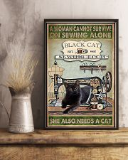 Black Cat sewing 11x17 Poster lifestyle-poster-3