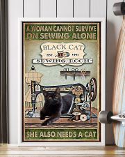 Black Cat sewing 11x17 Poster lifestyle-poster-4