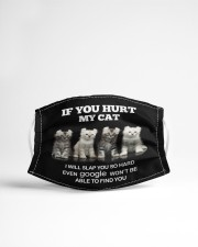 IF YOU HURT MY CAT Cloth face mask aos-face-mask-lifestyle-22