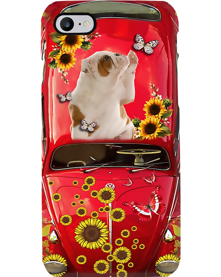 Phone Case - American Bulldog Sunflower Phone Case