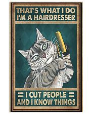 THAT'S WHAT I DO I'M A HAIRDRESSER 11x17 Poster front