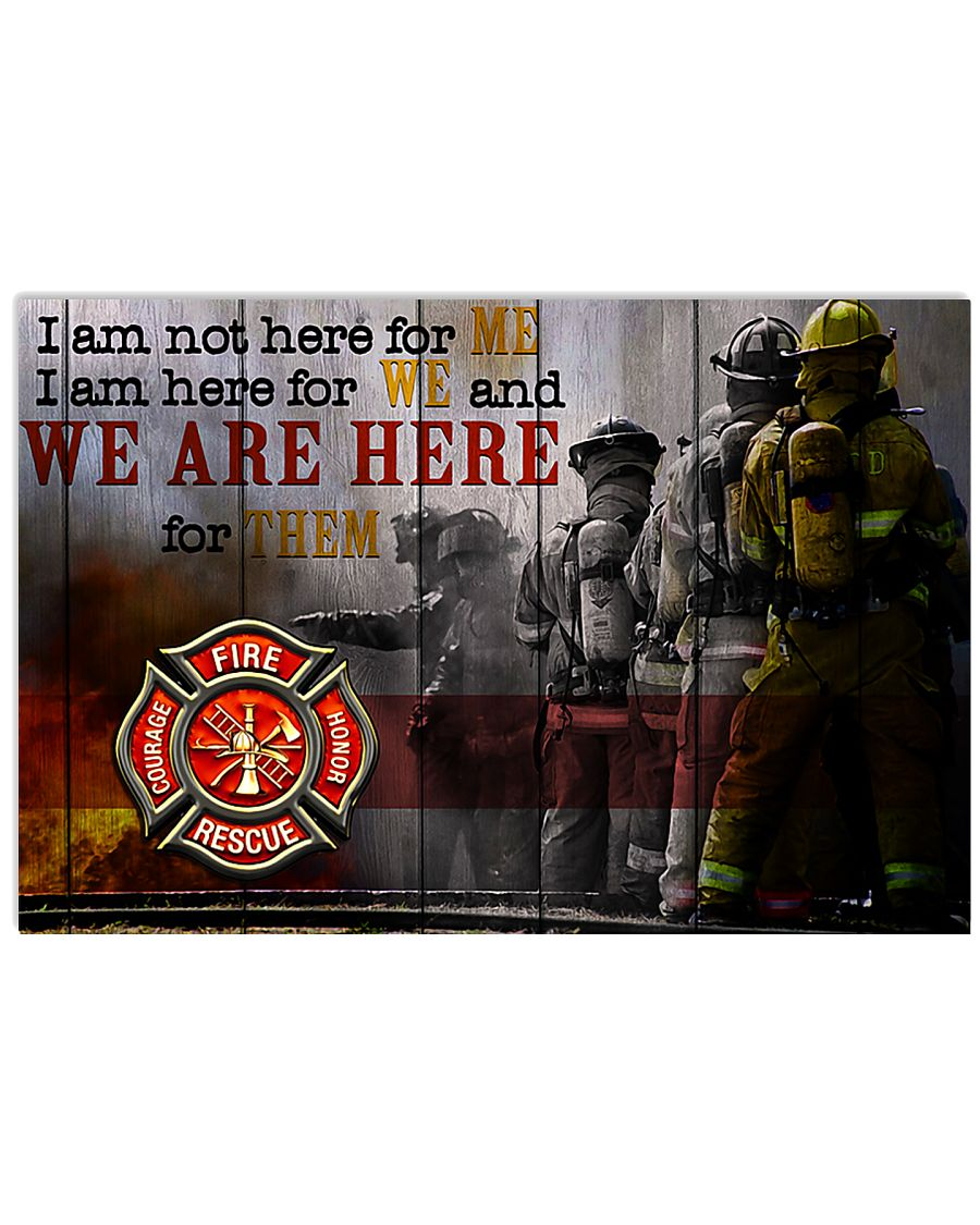 Firefighter poster 17x11 Poster