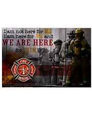 Firefighter poster 17x11 Poster front