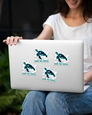 Save the Turtle Sticker - 4 pack (Vertical) aos-sticker-4-pack-vertical-lifestyle-front-14