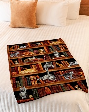 "Cats Books Blanket Small Fleece Blanket - 30"" x 40"" aos-coral-fleece-blanket-30x40-lifestyle-front-01"