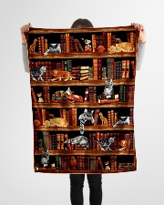 "Cats Books Blanket Small Fleece Blanket - 30"" x 40"" aos-coral-fleece-blanket-30x40-lifestyle-front-14"