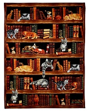 "Cats Books Blanket Fleece Blanket - 50"" x 60"" thumbnail"