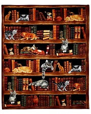 Cats Books Blanket Fleece Blanket tile