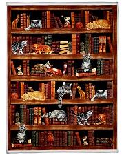 "Cats Books Blanket Large Fleece Blanket - 60"" x 80"" front"
