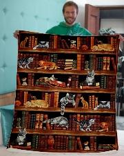 """Cats Books Blanket Sherpa Fleece Blanket - 50"""" x 60"""" aos-sherpa-fleece-blanket-50x60-lifestyle-front-05"""