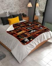"""Cats Books Blanket Sherpa Fleece Blanket - 50"""" x 60"""" aos-sherpa-fleece-blanket-lifestyle-front-02"""