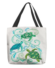 Turtle lady 7 All-Over Tote All-over Tote back