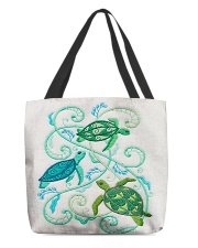 Turtle lady 7 All-Over Tote All-over Tote front