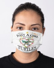 just a girl who love turtles Cloth face mask aos-face-mask-lifestyle-01