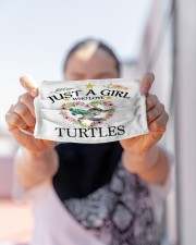 just a girl who love turtles Cloth face mask aos-face-mask-lifestyle-07