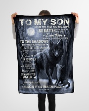 """To My Son -Mom Small Fleece Blanket - 30"""" x 40"""" aos-coral-fleece-blanket-30x40-lifestyle-front-14"""