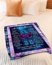 "As In Heaven Small Fleece Blanket - 30"" x 40"" aos-coral-fleece-blanket-30x40-lifestyle-front-01"