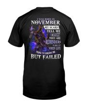 November Men My Scars  Classic T-Shirt back
