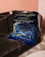"To My GrandDaughter - Grandma Small Fleece Blanket - 30"" x 40"" aos-coral-fleece-blanket-30x40-lifestyle-front-05"