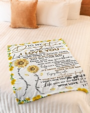 """Blanket To My Daughter - Mom Small Fleece Blanket - 30"""" x 40"""" aos-coral-fleece-blanket-30x40-lifestyle-front-01"""