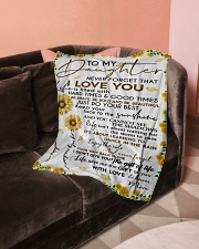 """Blanket To My Daughter - Mom Small Fleece Blanket - 30"""" x 40"""" aos-coral-fleece-blanket-30x40-lifestyle-front-05"""