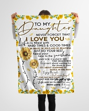 """Blanket To My Daughter - Mom Small Fleece Blanket - 30"""" x 40"""" aos-coral-fleece-blanket-30x40-lifestyle-front-14"""
