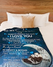 """To My Son Large Fleece Blanket - 60"""" x 80"""" aos-coral-fleece-blanket-60x80-lifestyle-front-02"""