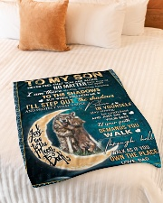 """To My Son - Dad Small Fleece Blanket - 30"""" x 40"""" aos-coral-fleece-blanket-30x40-lifestyle-front-01"""