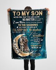 """To My Son - Dad Small Fleece Blanket - 30"""" x 40"""" aos-coral-fleece-blanket-30x40-lifestyle-front-14"""