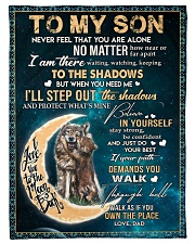 """To My Son - Dad Small Fleece Blanket - 30"""" x 40"""" front"""