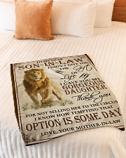 """Son In Law Small Fleece Blanket - 30"""" x 40"""" aos-coral-fleece-blanket-30x40-lifestyle-front-01"""