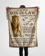 """Son In Law Small Fleece Blanket - 30"""" x 40"""" aos-coral-fleece-blanket-30x40-lifestyle-front-14"""