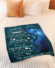 """To My Dad Small Fleece Blanket - 30"""" x 40"""" aos-coral-fleece-blanket-30x40-lifestyle-front-01"""