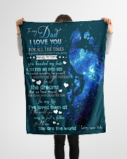 """To My Dad Small Fleece Blanket - 30"""" x 40"""" aos-coral-fleece-blanket-30x40-lifestyle-front-14"""