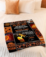 "To My Son Small Fleece Blanket - 30"" x 40"" aos-coral-fleece-blanket-30x40-lifestyle-front-01"