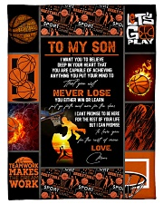 """To My Son Small Fleece Blanket - 30"""" x 40"""" front"""