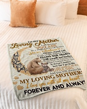"""To My Loving Mother Small Fleece Blanket - 30"""" x 40"""" aos-coral-fleece-blanket-30x40-lifestyle-front-01"""