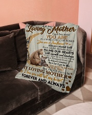 """To My Loving Mother Small Fleece Blanket - 30"""" x 40"""" aos-coral-fleece-blanket-30x40-lifestyle-front-05"""