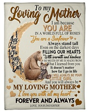 """To My Loving Mother Small Fleece Blanket - 30"""" x 40"""" front"""