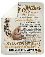 To My Loving Mother Sherpa Fleece Blanket tile