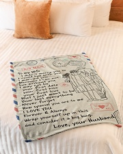 """To My Wife  Small Fleece Blanket - 30"""" x 40"""" aos-coral-fleece-blanket-30x40-lifestyle-front-01"""