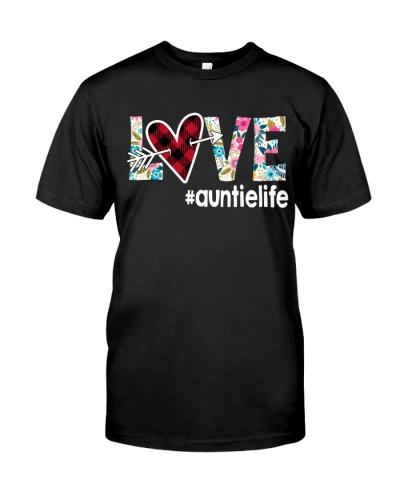 Love Auntie Life - Flower Arrow Heart