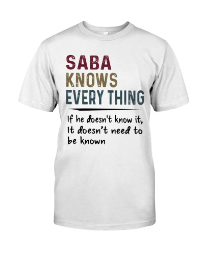 Saba Knows Everything - New