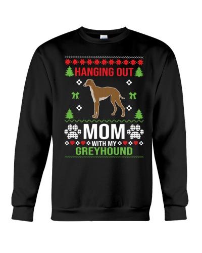 Mom And Greyhound Ugly Christmas Sweater