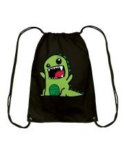 Grumpy Dino Drawstring Bag thumbnail